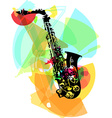 colorful saxophone vector image