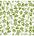 Retro seamless pattern of pale green leaves vector image vector image