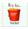 Flashcard letter B is for bucket vector image