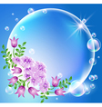 Floral Bubble Frame vector image