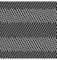 Diagonal Bricks and Stripes Black White Seamless vector image