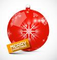 Merry Christmas Red Ball vector image