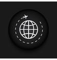 modern tourism black circle icon vector image