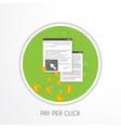 pay per click concept vector image