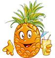pineapple cartoon character vector image