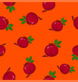 seamless pattern pomegranate on orange background vector image