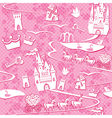 seamless pattern with fairytale land - castles lak vector image