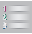 Three steps on light background vector image
