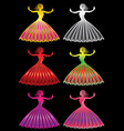 woman lady girl figure silhouette vector image