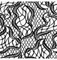 Seamless lace pattern with abstract waves Vintage vector image