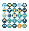 icons flat line business banking vector image vector image