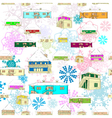 winter colored pattern vector image vector image
