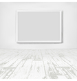 Empty white room with frame picture vector image vector image