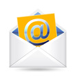 mail with email sign vector image