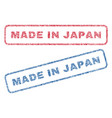 made in japan textile stamps vector image