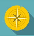 gold ancient compass icon flat style vector image