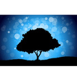 Landscape with tree vector image vector image