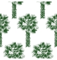 hand drawn palm tree seamless vector image