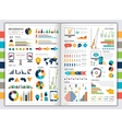Flat infographic set vector image vector image