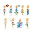 Pregnancy Cartoon Funny Drawings vector image
