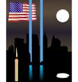 memorial twin towers vector image