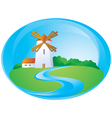 rural background with mill vector image vector image