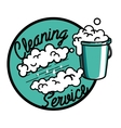 Color vintage cleaning service emblem vector image
