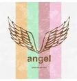 angel icon retro background vector image