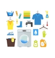 Cartoon Laundry Set vector image