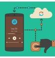 Cloud audio service synchronization concept vector image