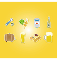 color set with beer icons vector image