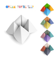 Colorful origami Fortune Teller vector image