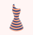 flat shading style icon summer dress vector image