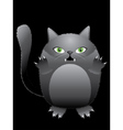 Funny black cat vector image