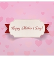 Happy Mothers Day realistic Banner with Ribbon vector image