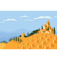 hay in the Italian countryside vector image