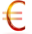 Red abstract Euro sign vector image