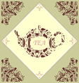 Retro Teapot Tile vector image