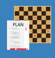 strategic plan concept vector image
