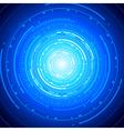 Tech tunnel vector image