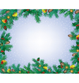 New Year and Christmas frame vector image vector image