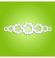 White flowers on green background vector image