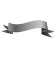 Realistic shiny grey ribbon isolated on white vector image