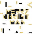 Merry Christmas Postcard Golden Gold Geometric vector image