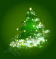 Christmas tree ornament card vector image