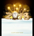 Happy new year background with 2018 and fireworks vector image