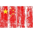 Chinese grunge flag vector image vector image