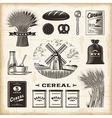 Vintage cereal set vector image
