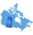 Map of Canada - Saskatchewan province vector image