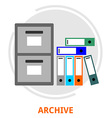 archive vector image vector image
